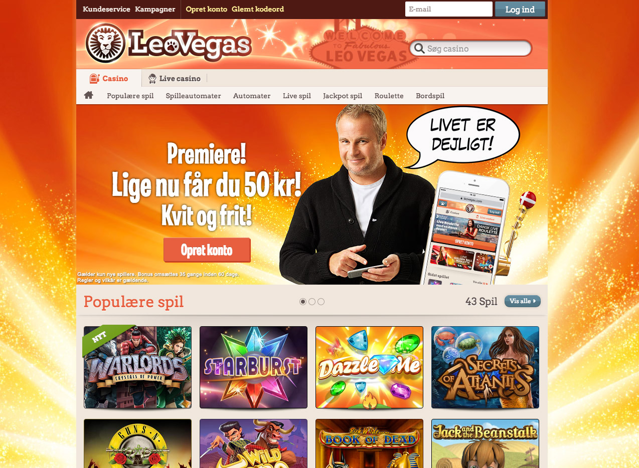 LeoVegas casino anmeldelse